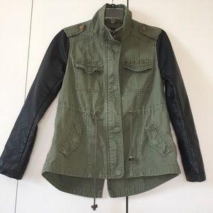 Style & Co Green &  black Two Tone Utility Jacket